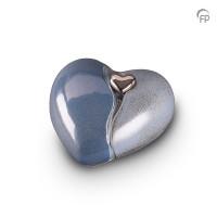 Keramische hart-urn met afneembaar hart, 4 kleuren