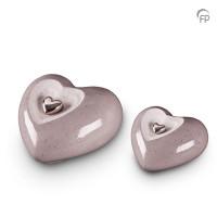 Keramische hart-urn met afneembaar hart