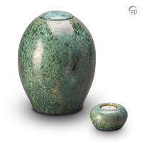 Keramische urn, in groen of blauw