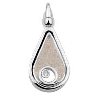 Ashanger zilver, glas, zirkonia
