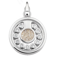 Ashanger zilver, glas, zirkonia's