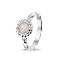 """Zilveren """"gedraaide"""" ring met open ruimte 3 varianten"""