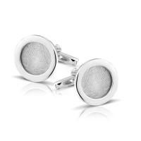 Zilveren manchetknopen div.vormen vingerafdruk