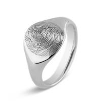 Zilveren signetring, voor gravering of vingerafdruk