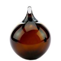 Glazen urn, druppel bolvormig