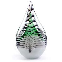Glazen urn, druppel, groot, met effect