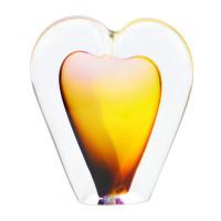 Glazen mini-urn, hart, diverse kleuren