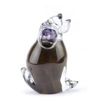 Glazen mini-urn, hond zittend, diverse kleuren