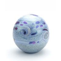 Glazen urn, Elan collection, Zeeblauw