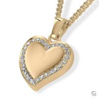 Ashanger hart, a-symetrisch en zirkonia / briljant
