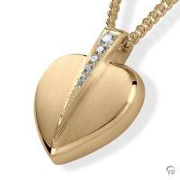 Ashanger hart met zirkonia / briljant