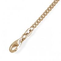 Zilveren / gouden / witgouden collier, gourmet schakel, 2.1MM