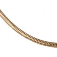 Zilveren / gouden / witgouden slangencollier, 45cm – 2.1-3.0MM