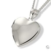 Ashanger medaillon hart glanzend