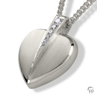 Ashanger hart met zirkonia / briljant-AH085