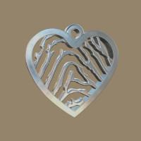 Vingerafdrukhanger, 3D, ronde hartvorm