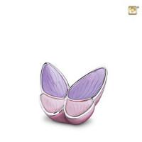 Vlinder mini-urn, drie kleurvarianten