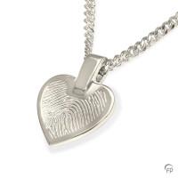 Vingerafdrukhanger hartvorm, 2 maten