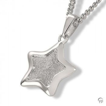 zilveren-vingerafdrukhanger-ster-vorm-glanzende-rand_fp-hf-106_funeral-products_755_memento-aan-jou