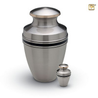 Urn Classic® Vienna, zilver met zwarte band