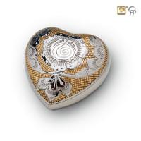 Hart-urn bolle vorm met kleur gravures