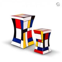 Glasfiber urn diabolo vorm, 5 kleuren