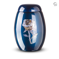 Glasfiber urn klassiek model, roos, parelmoer, 3 kleuren