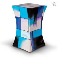Glasfiber urn diabolo vorm, 5 kleuren – Groot, Blauw
