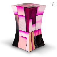 Glasfiber urn diabolo vorm, 5 kleuren – Groot, Roze