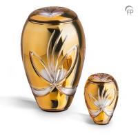 Glazen urn, kristal glas klassiek, bloem, 2 kleuren