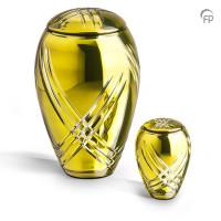 Glazen urn, kristal glas klassiek, lijnen, 2 kleuren