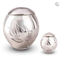 Glazen mini-urn, kristal glas bol, bloem