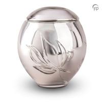 Glazen urn, kristal glas bol, bloem