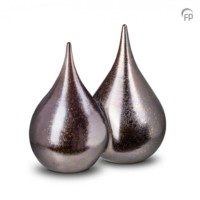Keramische duo-urn, 2 druppels