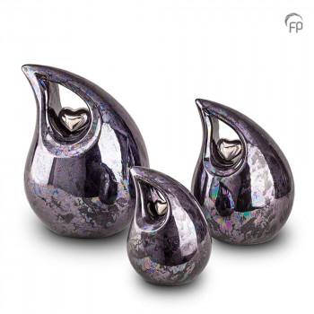 keramische-urn-druppel-zwart-olie-effect-glad-zilverkleurig-hart_ku-007-set_funeral-products_150-151-152