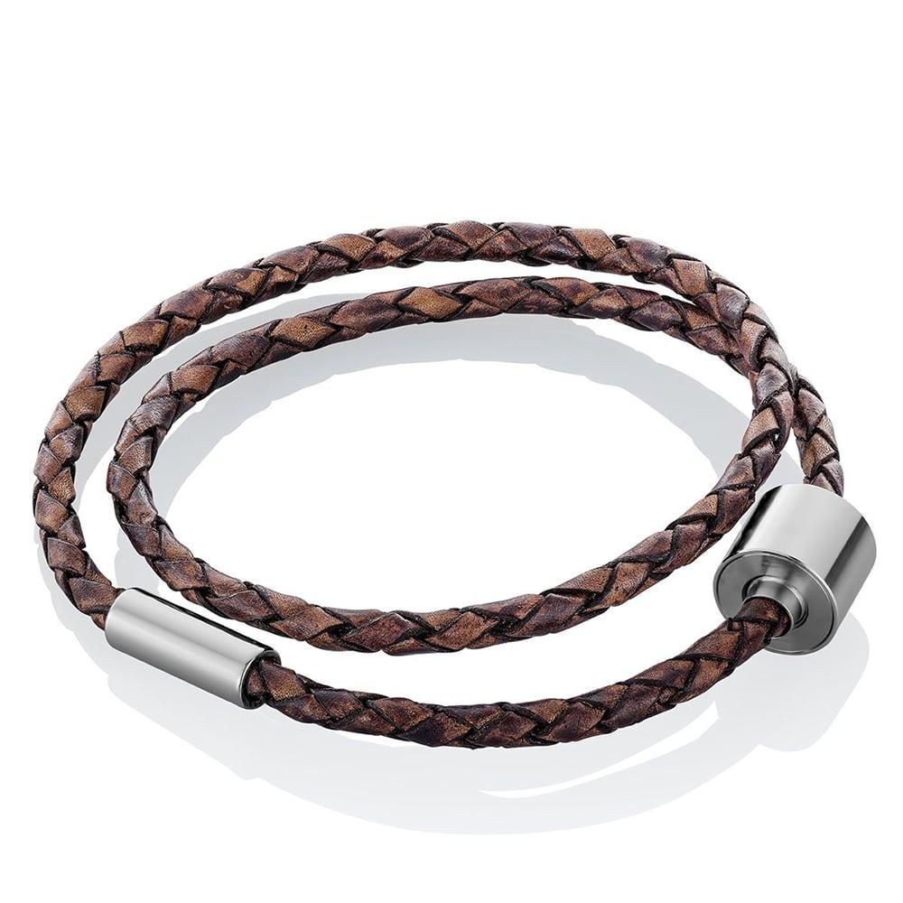 bruin-lederen-gevlochten-armband-asruimte-staal-barrel_-tadblu-barrel-bracelet-bruin-leder-gevlochten_tadblu_1602_memento-aan-jou