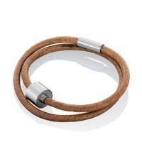 Lederen gladde armband met ruimte-barrel