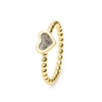Ring met hart voorzien van open ruimte-RG001-011