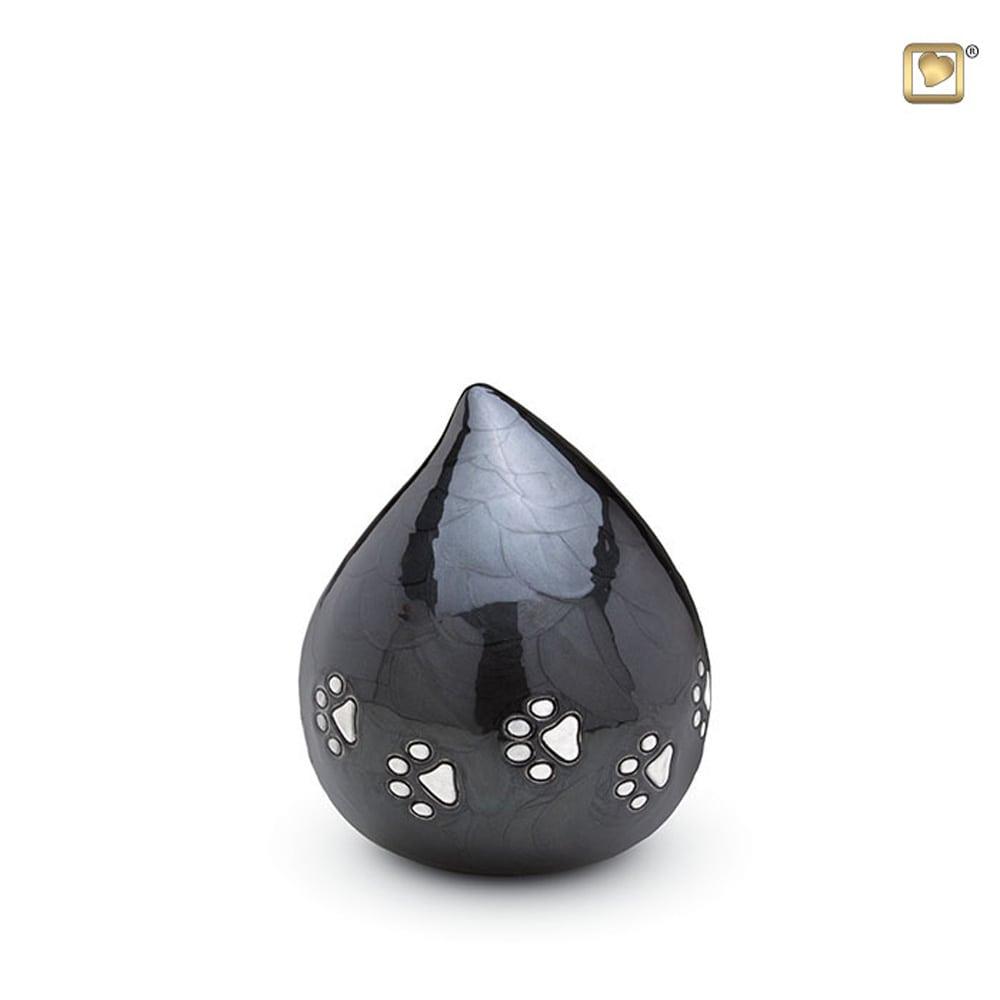 messing-dieren-urn-druppel-antraciet-donkergrijs-zilveren-poot_-LU-P-633_Love-Urns_memento-aan-jou