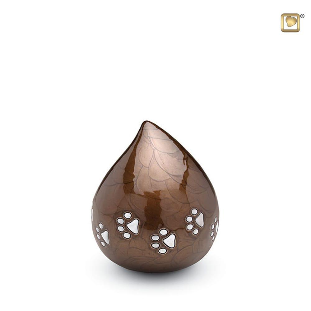 messing-dieren-urn-druppel-donkerbruin-zilveren-poot_-LU-P-634_Love-Urns_memento-aan-jou