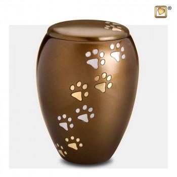 urn-bruin-hoog-zilver-gouden-hondenpoten-majestic-paws-bronze-large-groot_lu-p-504l