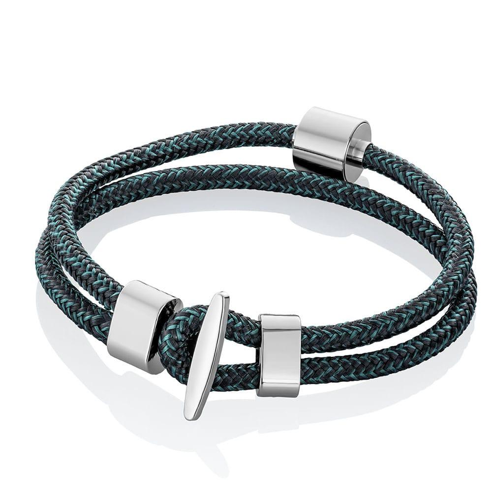 zwart-petrol-koord-armband-asruimte-staal-barrel_-tadblu-barrel-bracelet-black-petrol-cord_tadblu_1606_memento-aan-jou