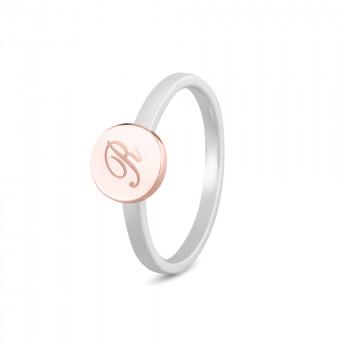 zilveren-ring-modern-smal-rosegouden-ronde-kop-initiaal_sy-459-sr_seeyou-memorial-jewelry_memento-aan-jou