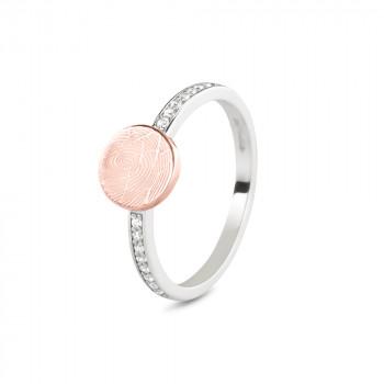 zilveren-ring-modern-smal-rosegouden-ronde-kop-vingerafdruk-zirkonia_sy-457-sr_seeyou-memorial-jewelry_memento-aan-jou
