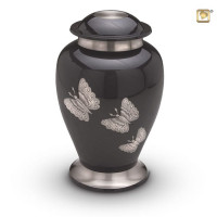 Urn Traditional Butterflies, antraciet, 2 maten