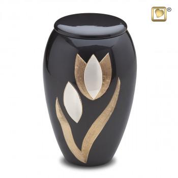 antraciet-urn-gravering-tulp-effect-goud-kleurig-parel-tulip-groot_lu-a-502