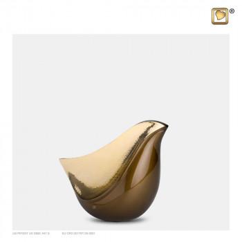 bruin-kleurige-mini-urn-goudkleurige-gehamerd-effect-lovebird-bronze-klein_lu-k-551