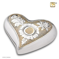 Mini-urnen Elegant® Floral, 2 kleurig met bloemgravering