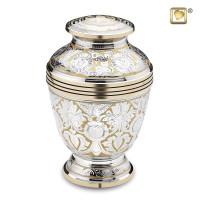 Urnenserie Elegant® Floral, 2 kleurig met bloemgravering