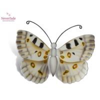 Houten mini-urn vlinder op granieten blokje, Apollovlinder